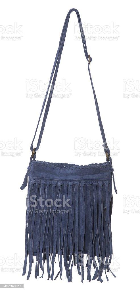 Blue womans purse stock photo