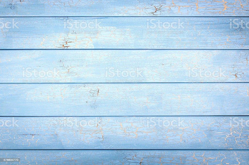 Bleu fond en bois  - Photo