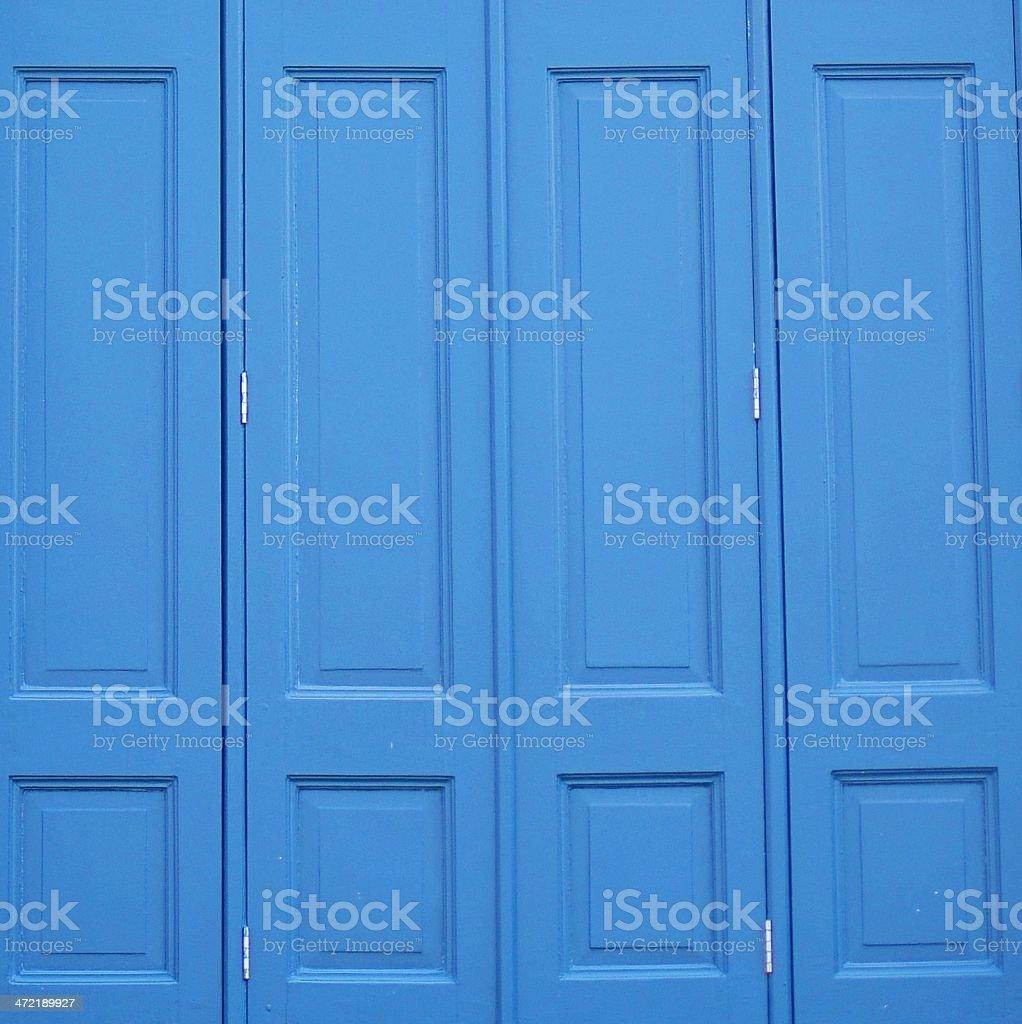 Blue wood door background stock photo