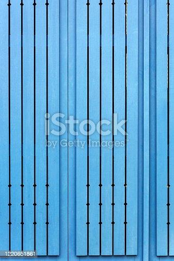 Blue wooden backgrounds in Turkey.