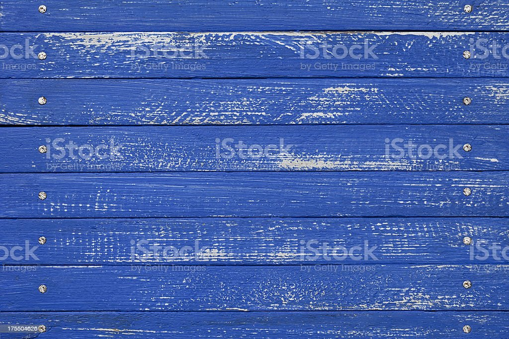 Blue wooden fence background. royalty-free stock photo