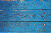 istock blue wooden planks, palisade background 611871690