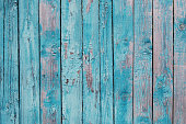 istock Blue wooden planks with cracked paint 543590552