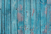 istock Blue wooden planks with cracked paint 543590576