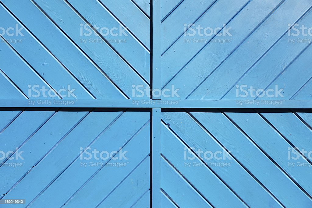Blue Wooden Slats Background royalty-free stock photo