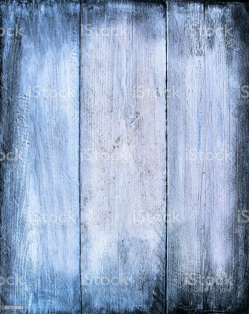 Blue wooden texture, timber background stock photo