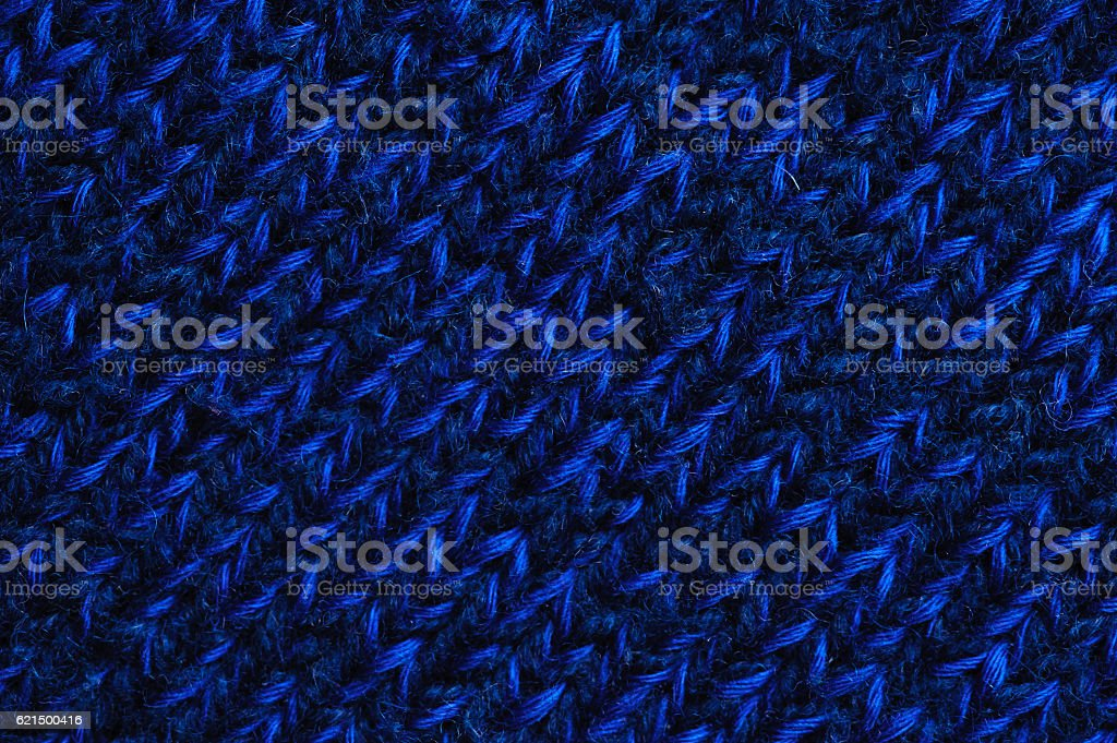 Blue woolen fabric texture foto stock royalty-free