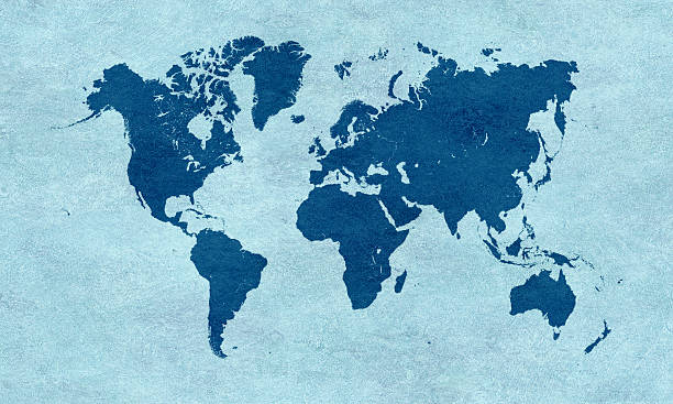Royalty free world map pictures images and stock photos istock blue world map on blue paper stock photo sciox Choice Image