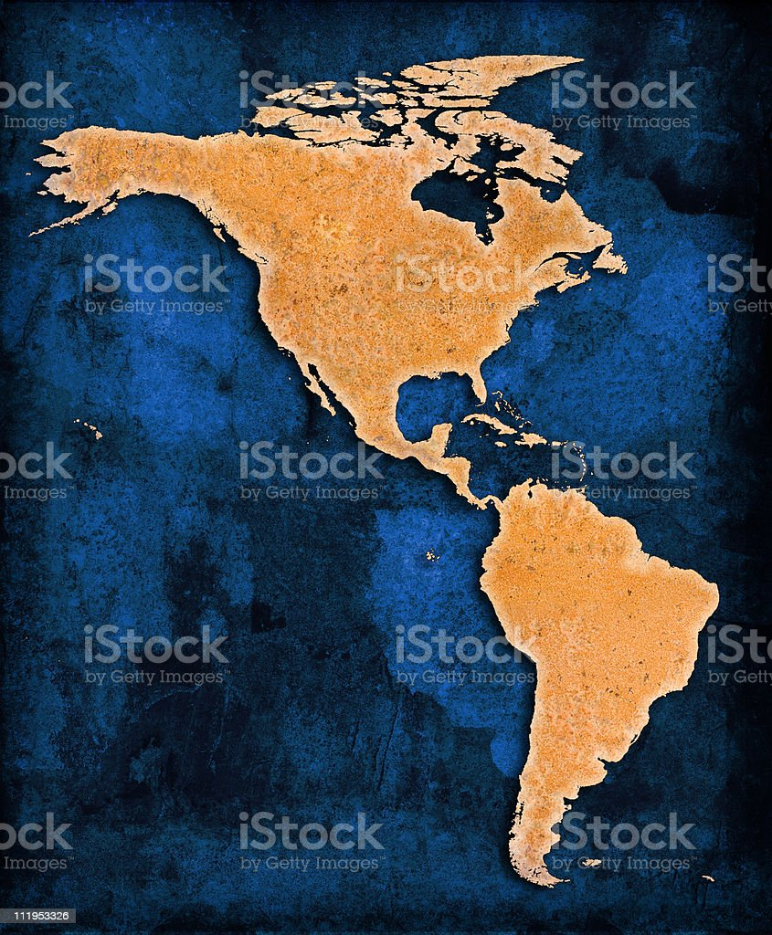 Blue World The Americas royalty-free stock photo