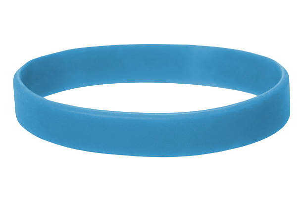 blue wristband - rubber stock photos and pictures