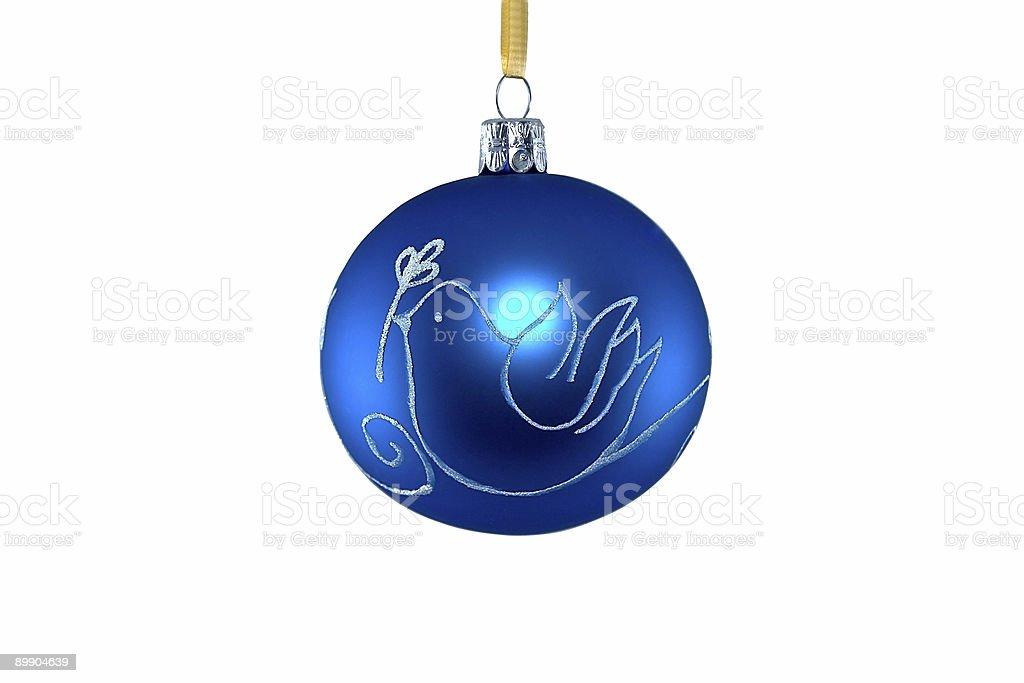 Bolas de navidad-azul foto de stock libre de derechos