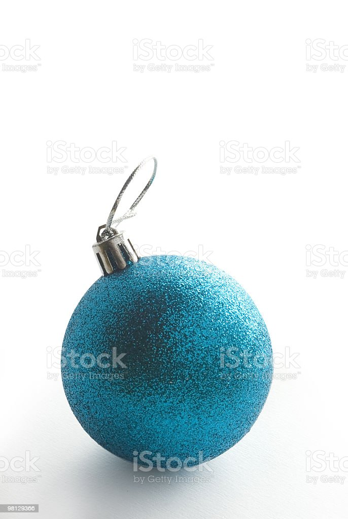 blue x-mas ball royalty-free stock photo