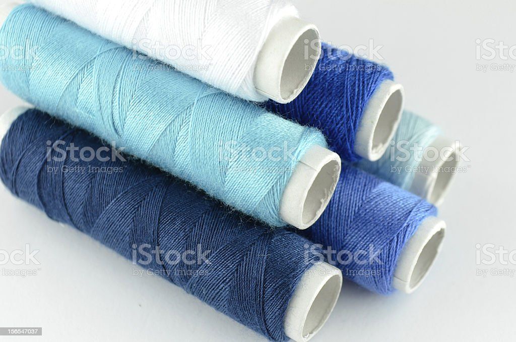 Blue yarn isolated royalty-free stock photo