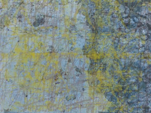 Blue Yellow Concrete Background stock photo