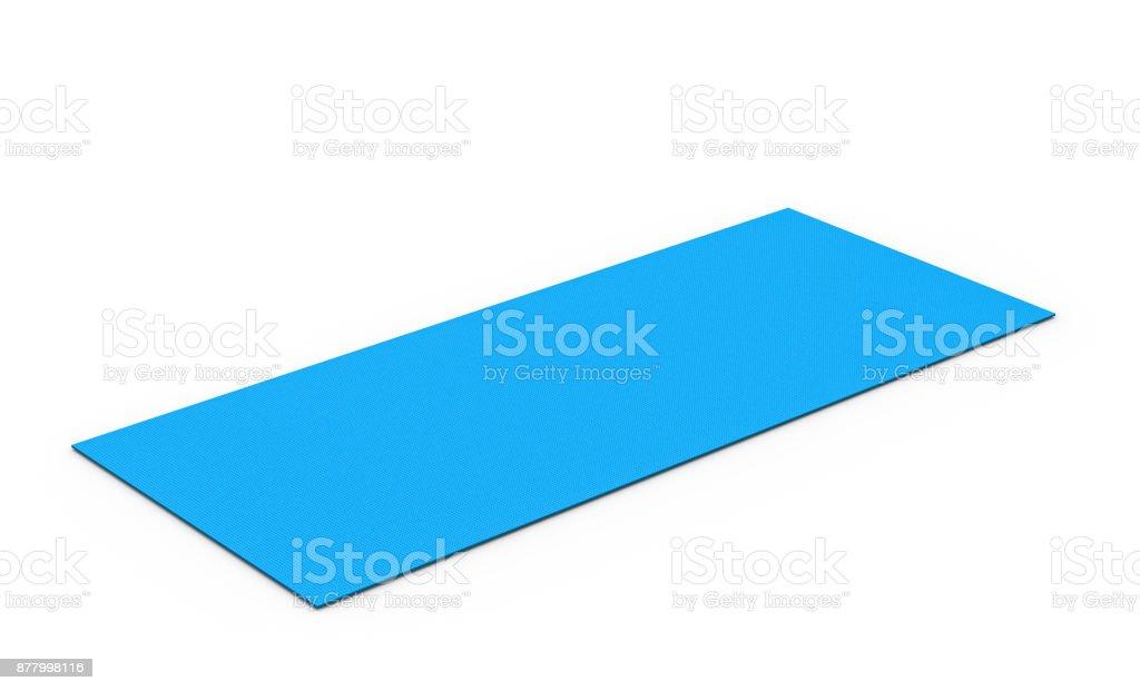 blue yoga mat stock photo