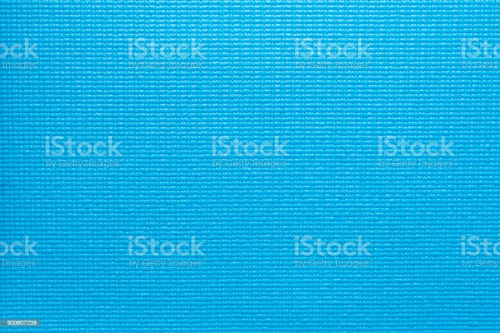 blue yoga mat texture and background stock photo