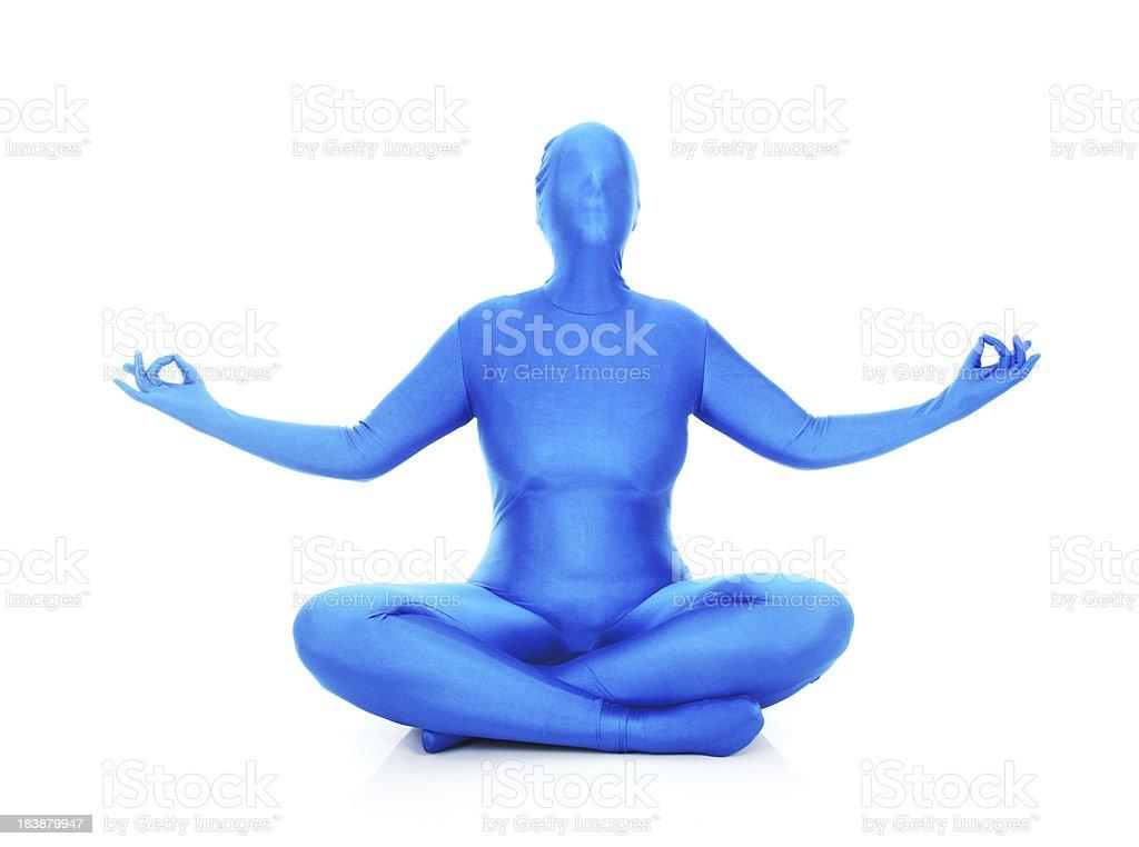 Blue Yoga stock photo