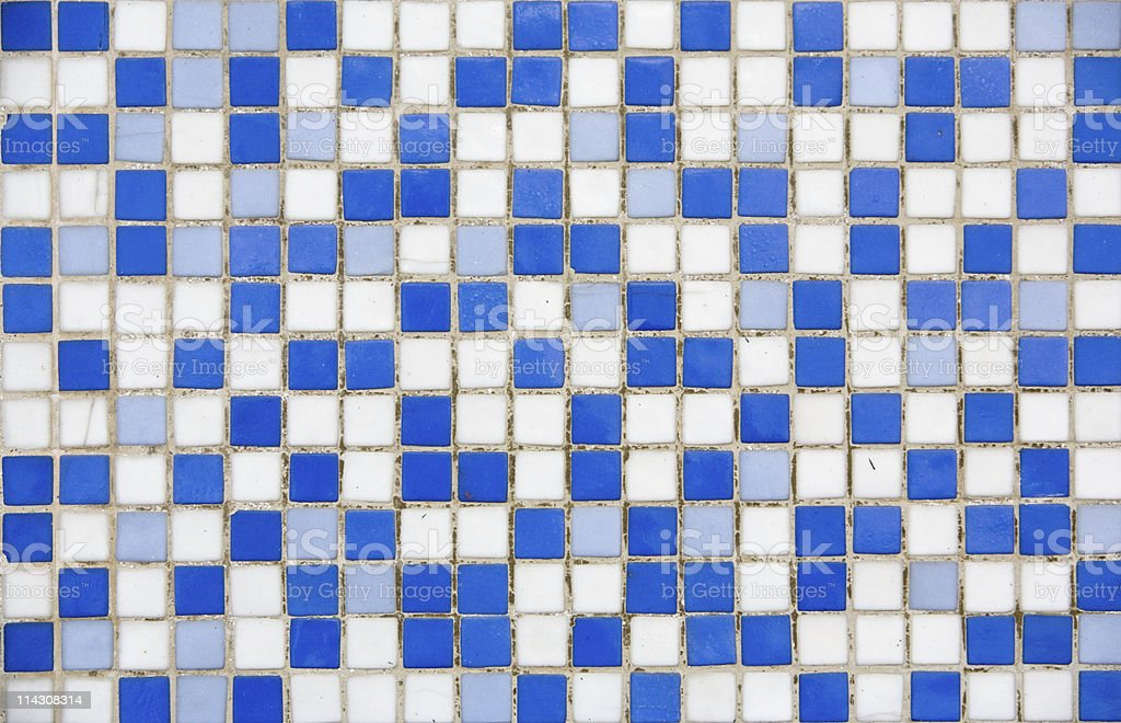 Blue-and-white mosaic royalty-free stock photo