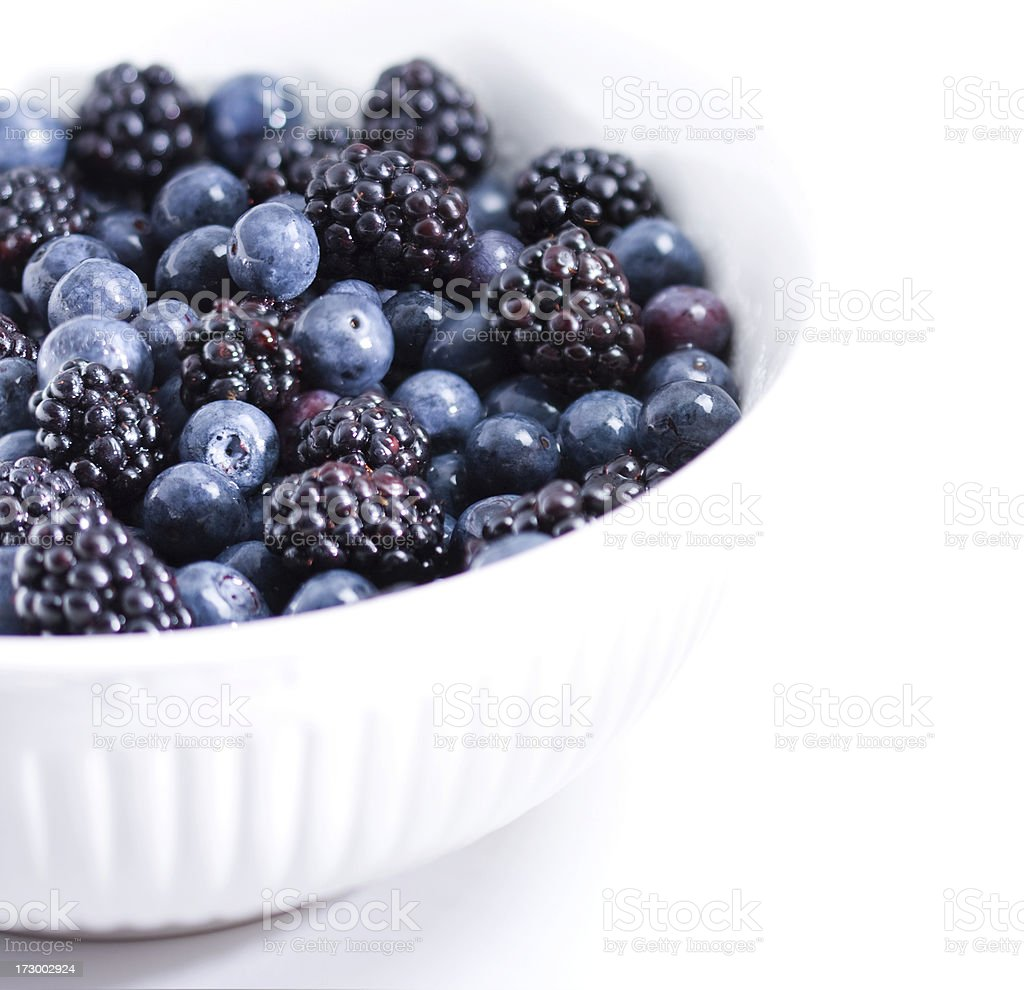Blueberries and Blackberries royalty-free stock photo