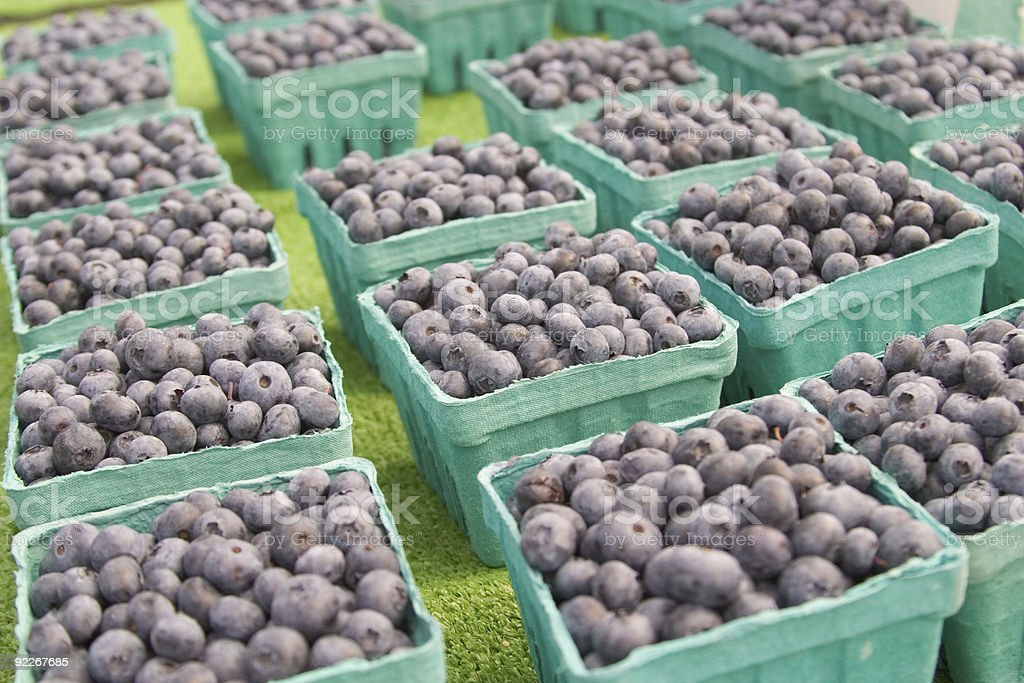 Blueberries at the Market royalty-free stock photo