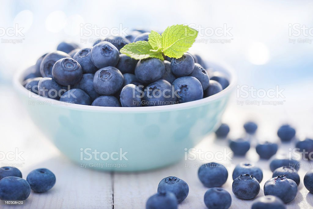 Blueberries in a bowl - Royalty-free Abundance Stock Photo