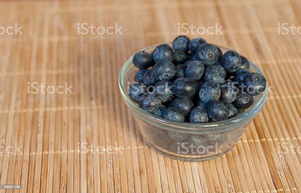 Blueberries in a dish royalty-free stock photo