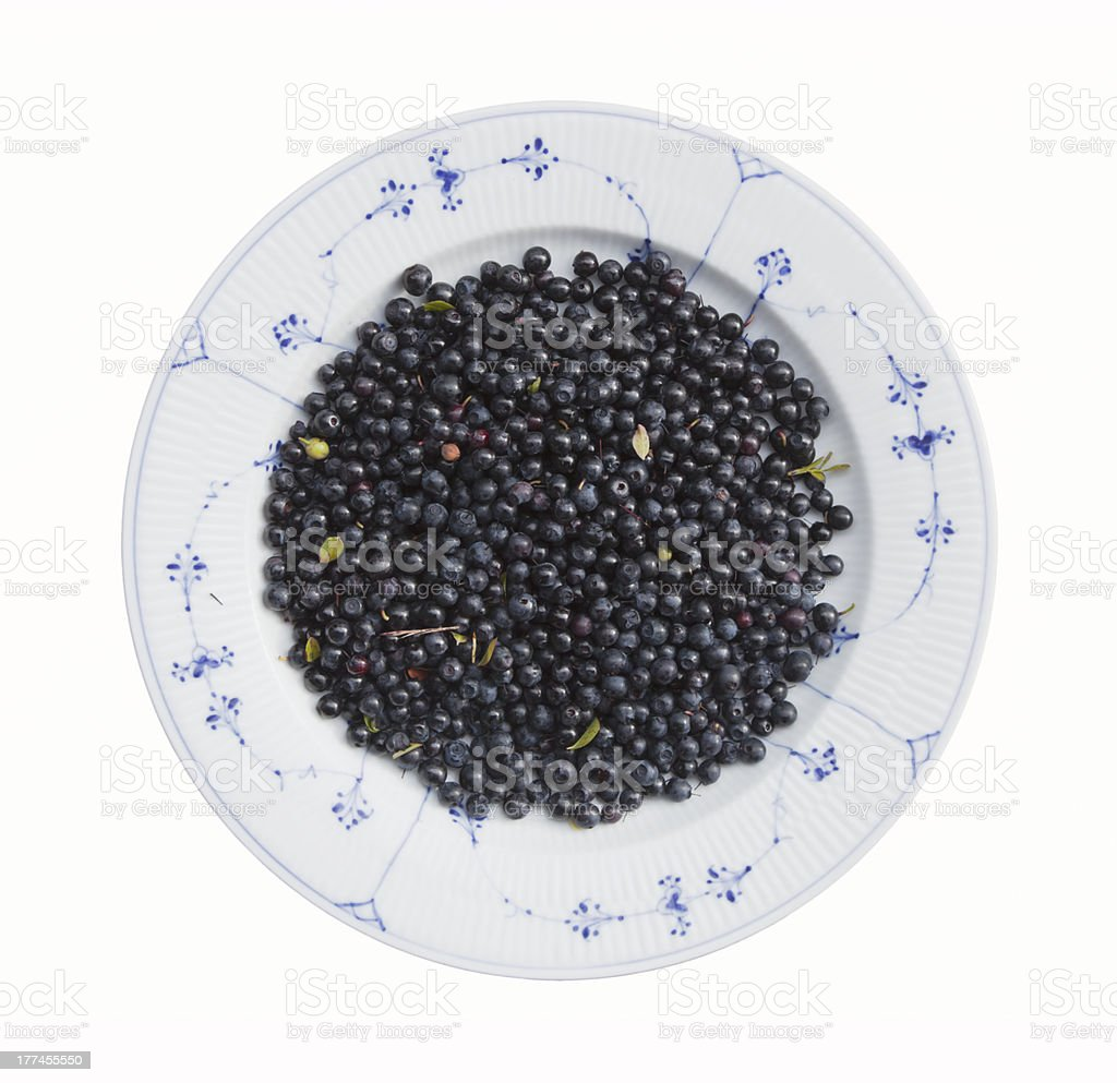 Blueberries in white bowl. royalty-free stock photo
