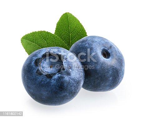 853493518 istock photo Blueberries isolated on white background 1161802142