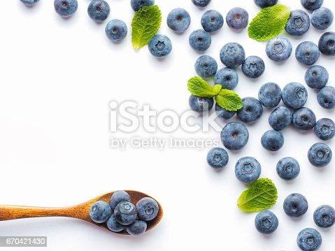 670420880istockphoto Blueberries isolated on white background 670421430