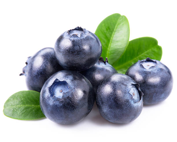 blueberries isolated - blueberry stock pictures, royalty-free photos & images
