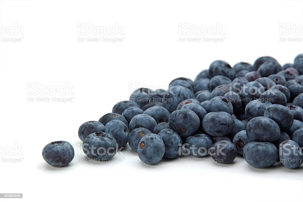 blueberries on white background royalty-free stock photo