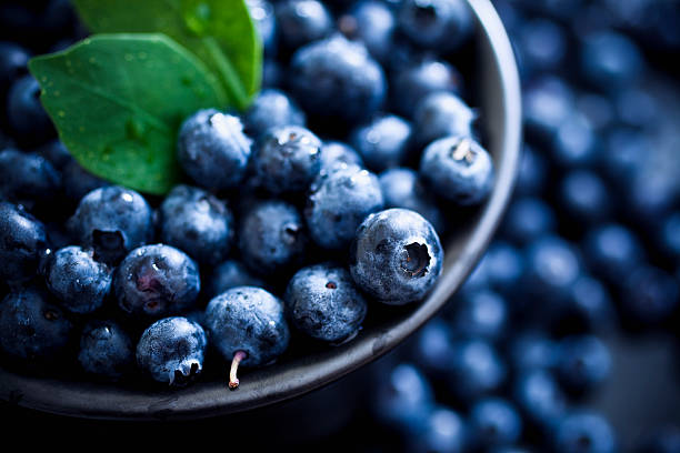 blueberries - blueberry stock pictures, royalty-free photos & images