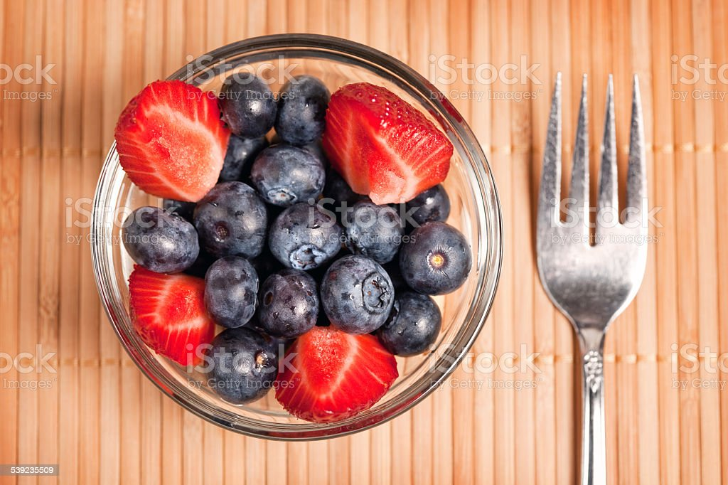 Blueberry And Strawberry Fruit Cup royalty-free stock photo