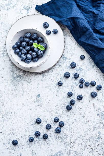 Blueberry antioxidant organic superfood stock photo