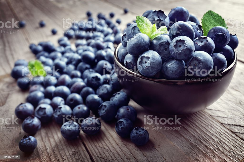 Blueberry antioxidant organic superfood bildbanksfoto