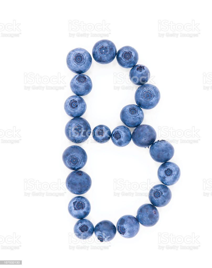 Blueberry B Isolated on White royalty-free stock photo