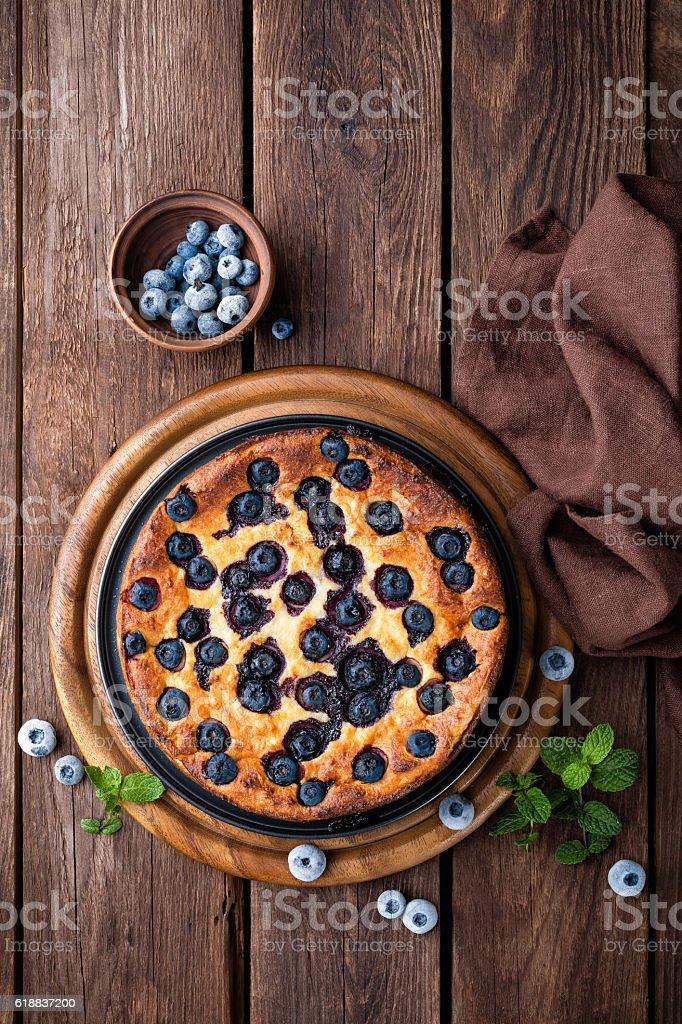 blueberry cake stock photo