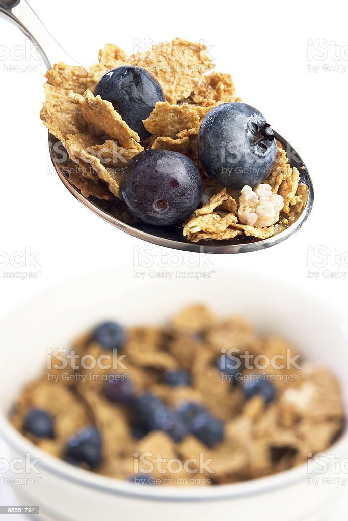 Blueberry cereal royalty-free stock photo