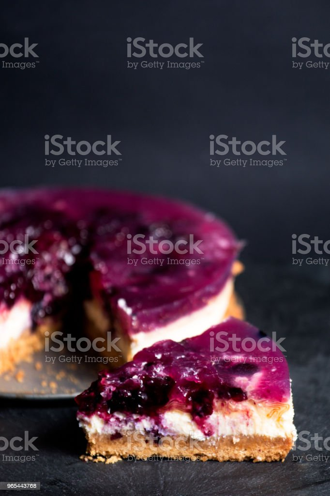 Blueberry cheese cake zbiór zdjęć royalty-free