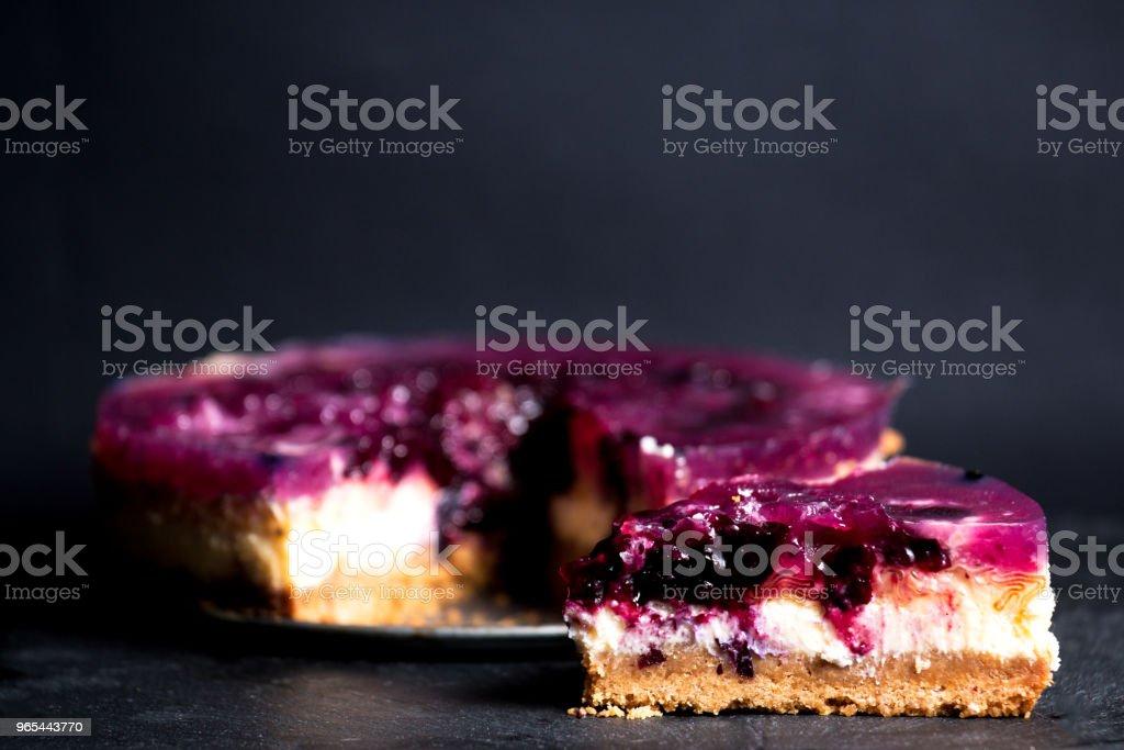 Gâteau au fromage aux bleuets - Photo de Aliment libre de droits