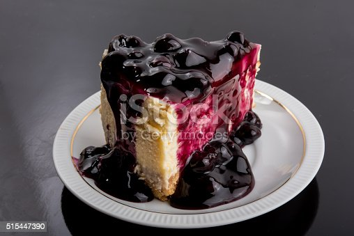 515447912 istock photo Blueberry Cheesecake 515447390