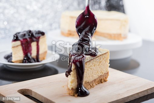 515447912 istock photo Blueberry Cheesecake 515447946