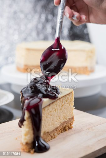 515447912 istock photo Blueberry Cheesecake 515447984