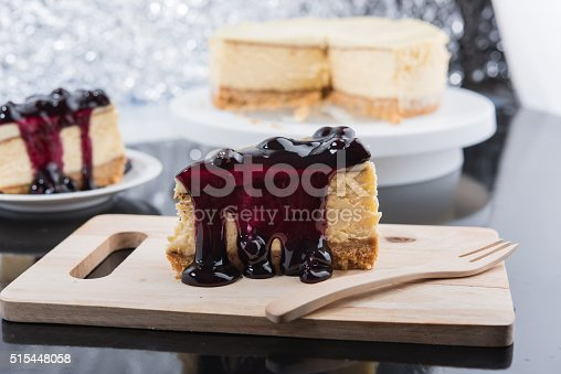 515447912 istock photo Blueberry Cheesecake 515448058