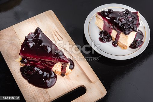 515447912 istock photo Blueberry Cheesecake 515448298