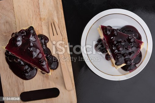 515447912 istock photo Blueberry Cheesecake 515448348