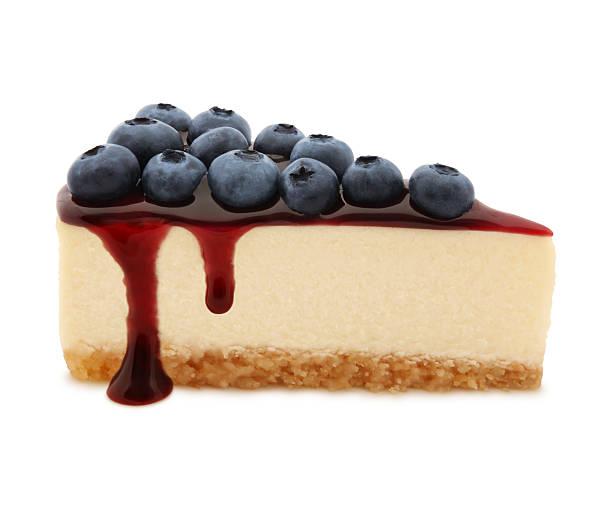 Blueberry Cheesecake Slice stock photo