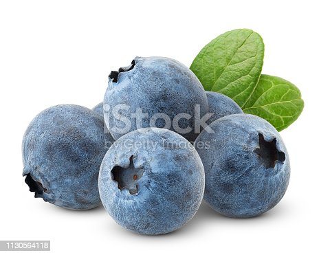 853493518 istock photo blueberry, clipping path, isolated on white background, full depth of field, high quality 1130564118