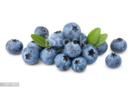 853493518 istock photo blueberry, clipping path, isolated on white background, full depth of field, high quality 1180170643