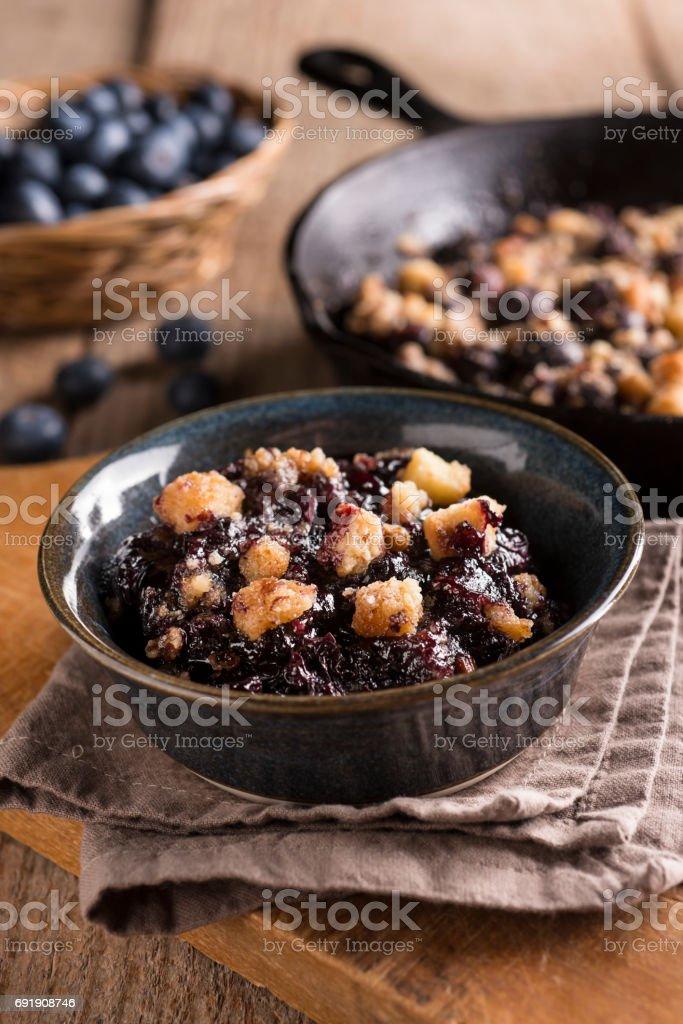 Blueberry Cobbler stock photo